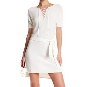 FRAME Denim Lace-Up Knit Dress